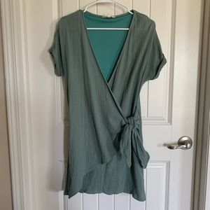 Vici Collection Peach Love wrap dress